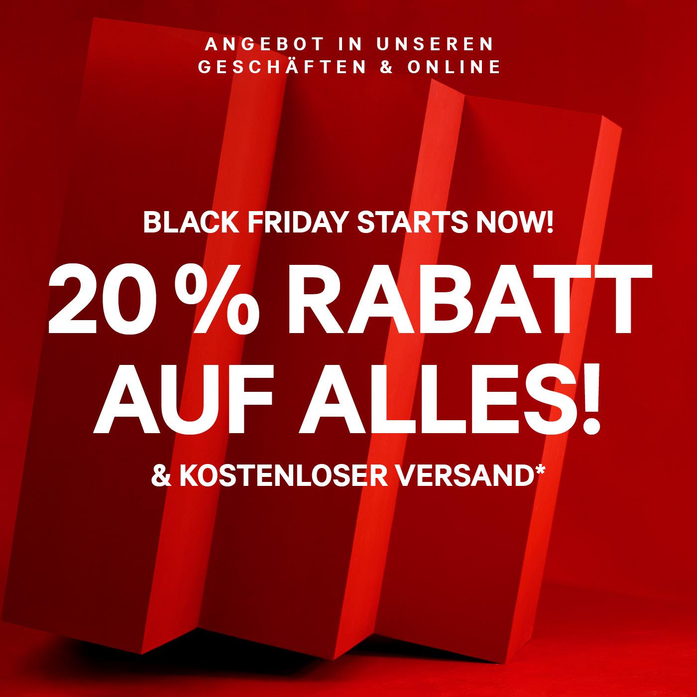 H&M Black Friday: 20% Rabatt auf alles + kostenloser Versand
