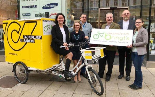 1080 Wien: GRATIS Lieferung per E-Bike für lokale Einkäufe