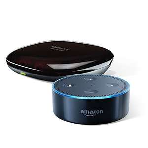 Amazon Echo Dot (2. Generation), Schwarz inkl. Logitech Harmony Hub