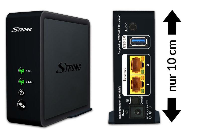 [mediamarkt.at] Strong WLAN Produke - Beispiel: STRONG Range Extender 1600, erweiterbar zum Mesh WLAN Netzwerk um € 69,- statt € 99,-
