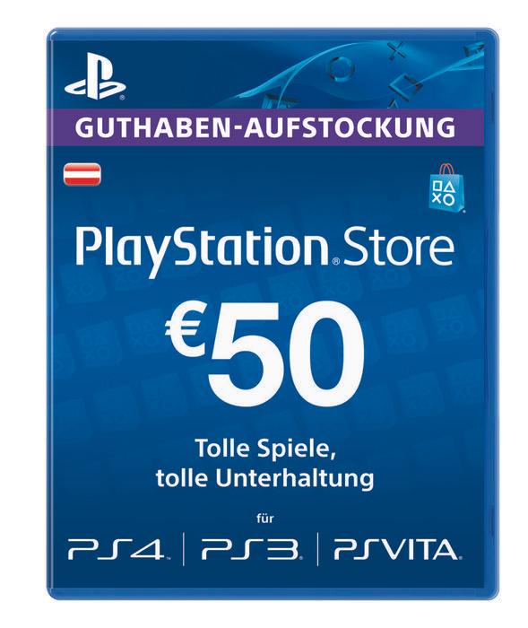 50 / 20 Euro PSN Guthaben (Austria) für 39,89 / 16.62 Euro mit 5% Facebook Gutschein wieder verfügbar...