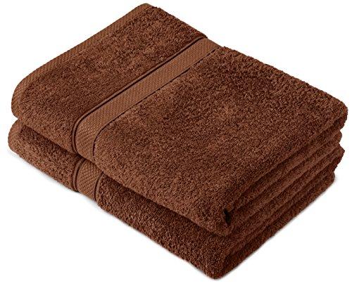 [www.AMAZON.de]  Pinzon by Amazon Handtuchset aus Baumwolle, Schokobraun, 2 Badetücher, 600g/m²  als Plus-Produkt