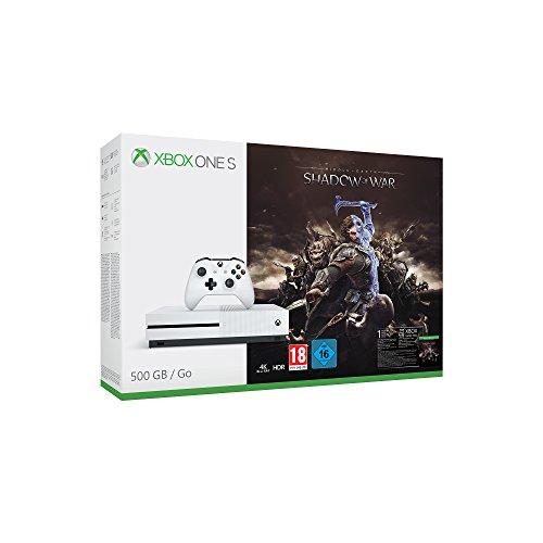 Xbox One S 500GB Konsole + Mittelerde: Schatten des Krieges für 169,99€
