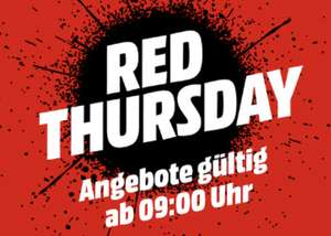 [Schweiz] Red Thursday bei Mediamarkt.ch (Sammeldeal)