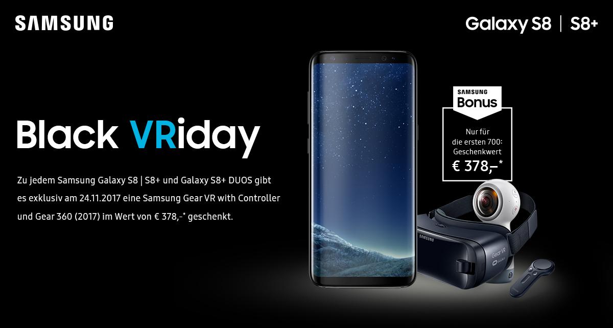 geleaked Samsung Black VRiday S8/S8+- Gratis Zubehör in Wert von 378,-€