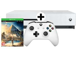 Xbox One S Bundle 500 GB + Assassins's Creed Origins (Download-Code) + Star Wars Battlefront II für 159€