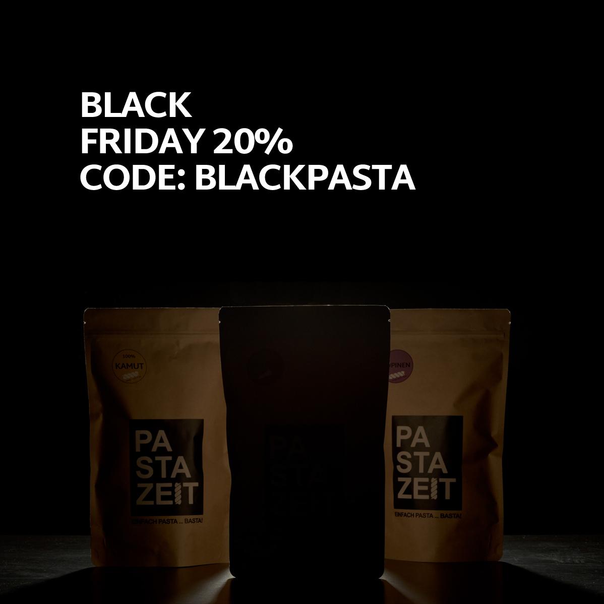 -20% Rabatt bei pastazeit.com - nur am Black Friday