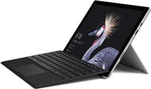 [amazon.de] Microsoft Surface Pro (12,3 Zoll) Notebook (Intel Core m3, 4 GB RAM, 128 GB SSD, Windows 10 Pro) silber, ohne Stift + Surface Pro Type Cover schwarz