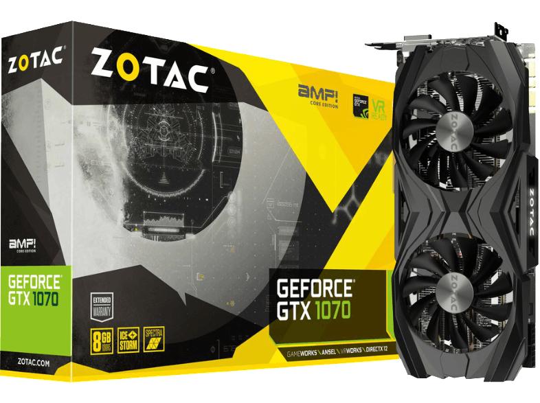 [Saturn] ZOTAC GeForce® GTX 1070 AMP Core Edition(8GB) mit GS um 374€
