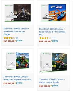 Angebot des Tages bei Amazon: XBOX One S 500GB Bundle um 149,99€ (151,25€ in AT)