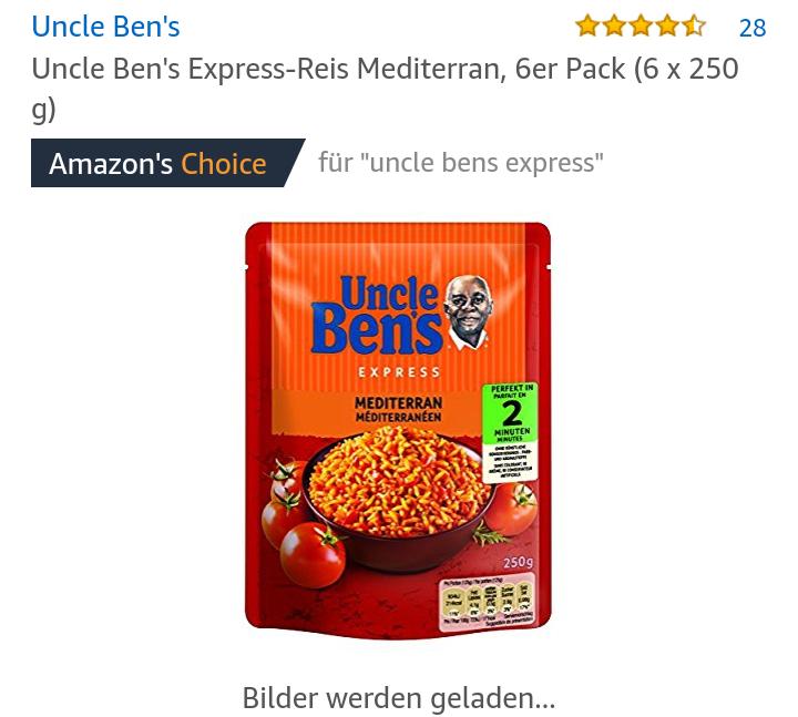 Uncle Bens Reis 6x mit Marktguru Cashback