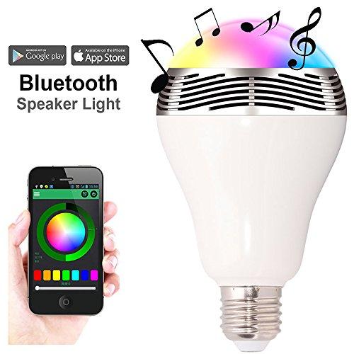 Dimmbare E27 Glühbirne Lampe mit APP Steuerung +Bluetooth 4.0 Lautsprecher um 17,99€