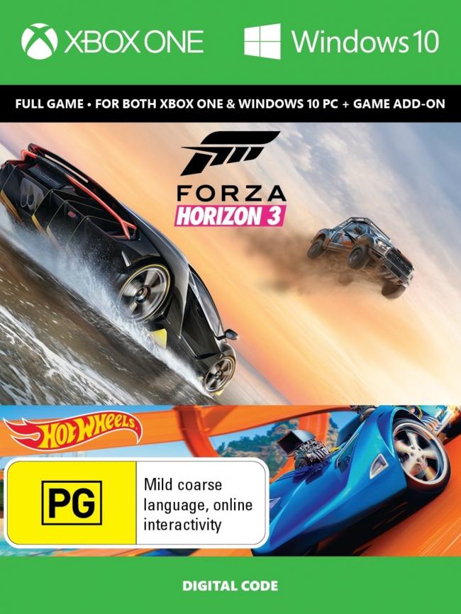 Forza Horizon 3 + Hot Wheels DLC XBOX One/PC Key