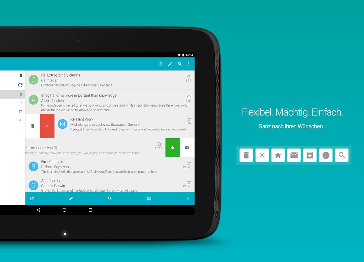 Google Playstore: Aqua Mail pro 50% billiger