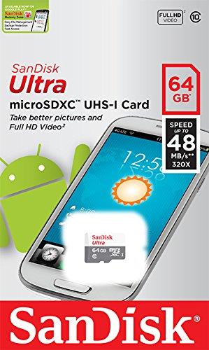 SanDisk Ultra microSDXC (64 GB) um 17 € - 48%