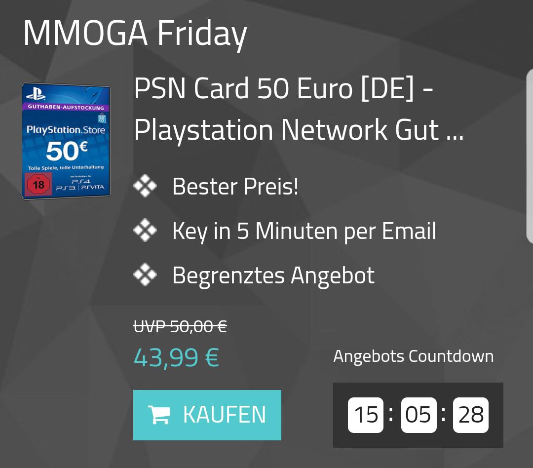 Playstation PSN Card im Wert von 50€