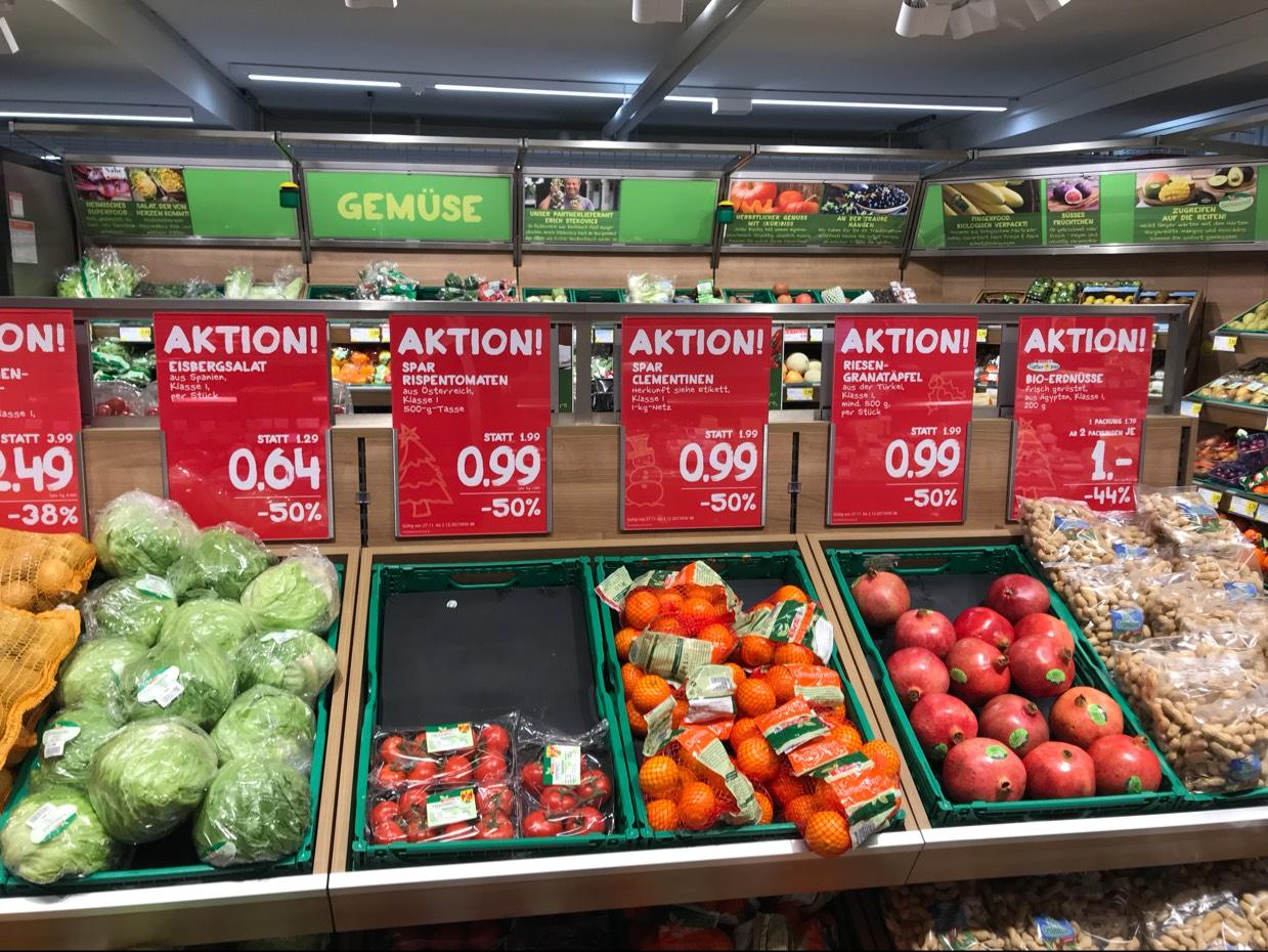 -50 % bei Spar für Granatäpfel und mehr !
