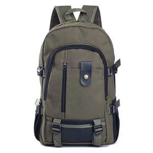 Men Outdoor Trendy Canvas Travel Backpack für 6,05€