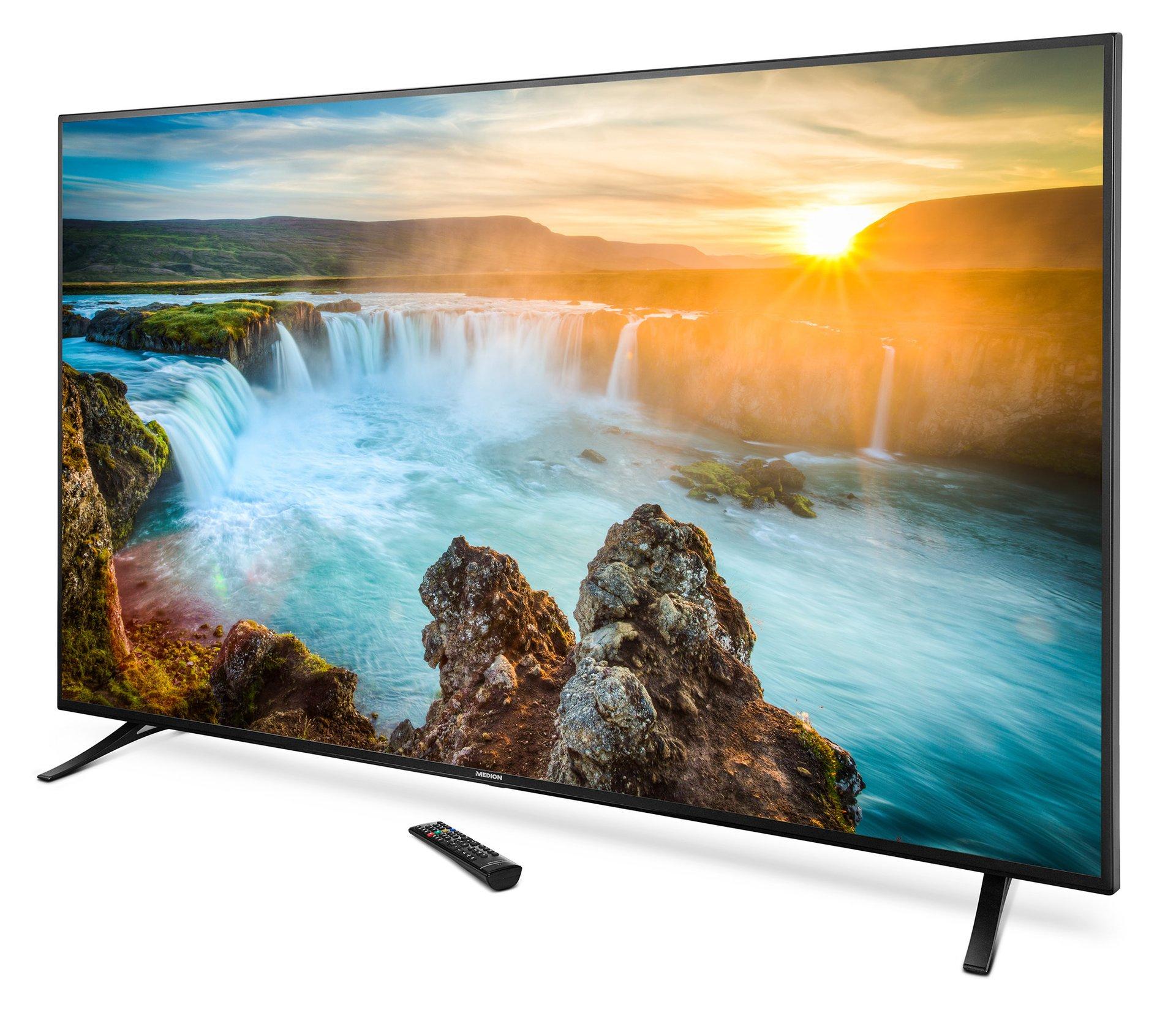 """Ein Mörderding! Schlanker 4K/UHD-Fernseher  """"75 Zoll (189,3 cm) !!!!"""" Medion X18175."""