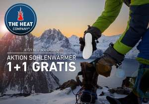 AKTION:1 plus 1 gratis! auf Sohlenwärmer bei The Heat Company