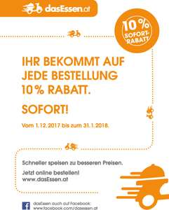 [dasessen.at] 10% auf jede Essensbestellung! Deal or no deal?