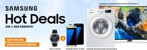 SATURN - Samsung Hot Deal am 1. des Monats - Galaxy S7 Edge Schwarz/Gold + Gear S3 Classic GRATIS!