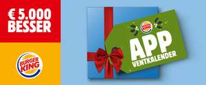 Burger King Adventskalender 2017 Leak - Alle Angebote - u.a. mit 6 Chicken Nuggets GRATIS