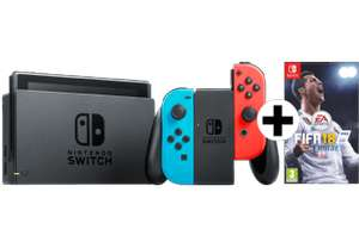 NINTENDO Switch Neonrot/blau + FIFA 18