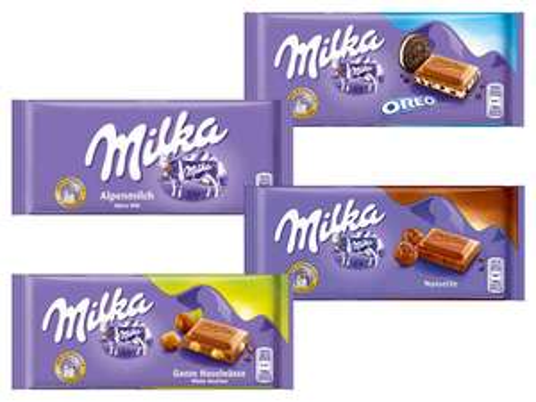 LIDL Milka Schokolade 100g ab 04.12.2017