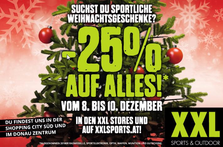 [SportXXL] -25% auf fast alles....von 8.12. - 10.12