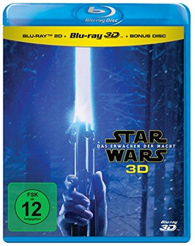 Star Wars - Das Erwachen der Macht 3D Bu-Ray (+ 2D-Blu-ray + Bonus-Blu-ray) für 14,90€/ 3 für 2