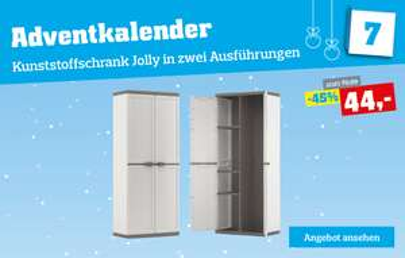 Möbelix: Kunststoffschrank 44€ statt 80€