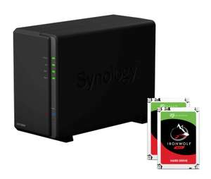 Synology DS218play NAS System 2-Bay 8TB inkl. 2x 4TB Seagate ST4000VN008