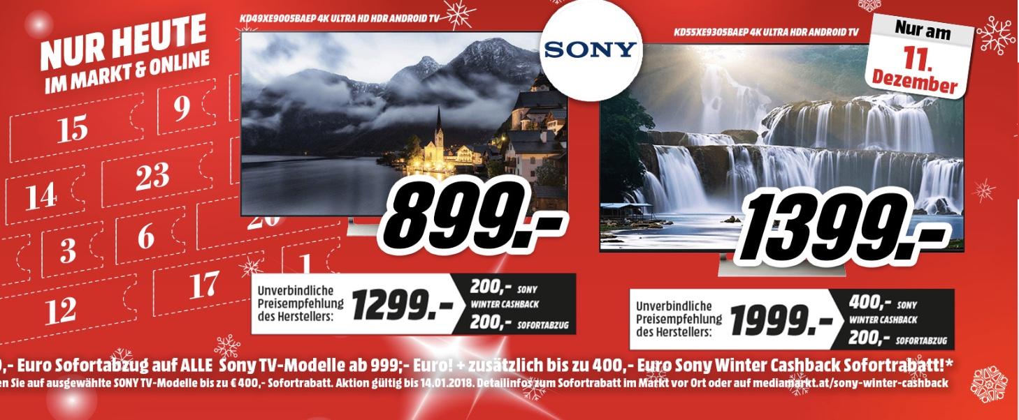 200€ Sofortabzug auf Sony Tv´s ab 999€