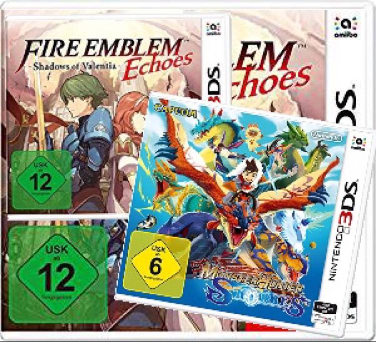 Nintendo 3DS Monster Hunter Stories und Fire Emblem Echoes: Shadows of Valentia jeweils um 25,20€