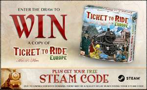 Ticket to Ride kostenlos [Steam]