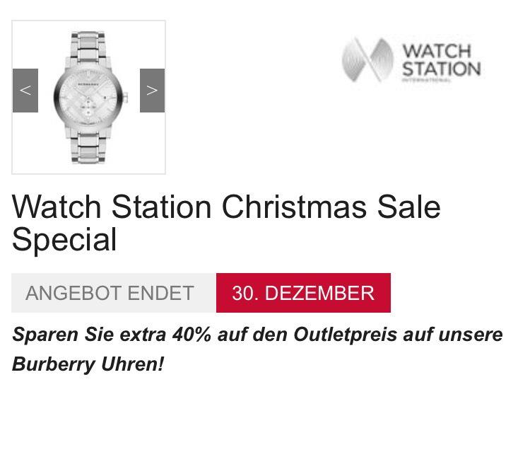 Burberry Uhren für die Liebsten