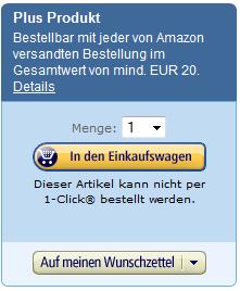 (Info) Amazon Plus Produkte ohne Mindestbestellwert bestellen