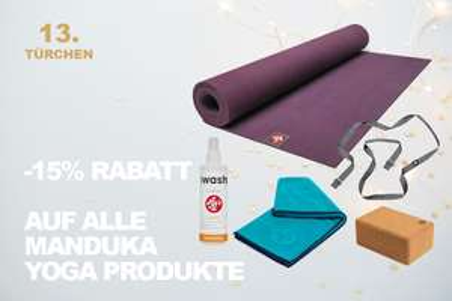 15% Rabatt auf Yoga-Produkte
