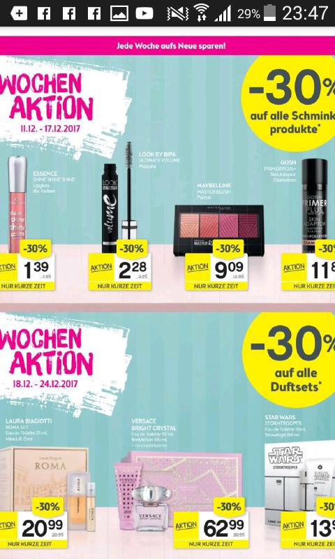 -30 Prozent auf alle schminkprodukte