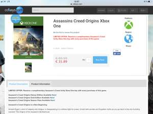 Assassins Creed Origins Xbox One Download Code
