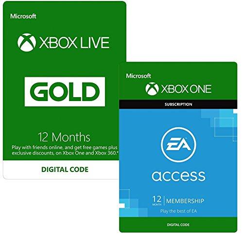 12 Monate Xbox Live Gold + 12 Monate EA Access um 51 € - 27%