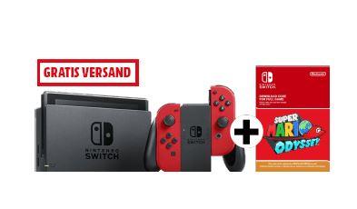 NINTENDO Switch Rot + Mario Odyssey (DLC)