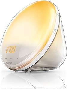 Philips HF3520/01 Wake-Up Light (Sonnenaufgangfunktion, digitales FM Radio, Tageslichtwecker)