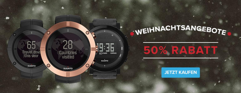 50 % Rabatt auf Suunto Kailash und Essential Premium-Uhrenkollektionen