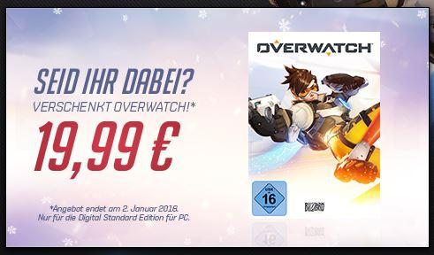 Overwatch Standard um 19,99€ / GOTY um 29,99€ bei Blizzard