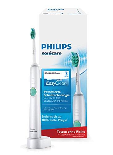 Philips Sonicare EasyClean Elektrische Zahnbürste mit Schalltechnologie HX6510/22, weiß
