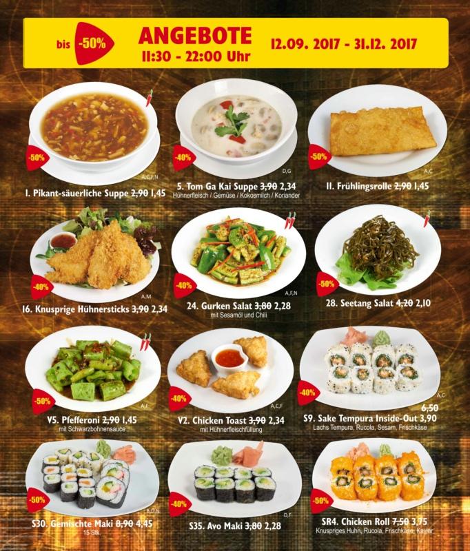 bis 31.12.2017 bis zu 50 Prozent Rabatt auf Speisen: Asiatisches Restaurant, 6. Bezirk