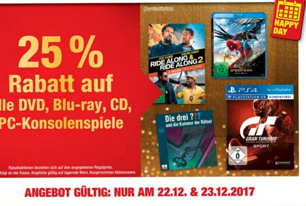 25% bei Metro auf PC und Konsolen Spiele, Filme 22. und 23.12