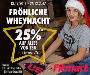 25% Rabatt auf (fast) alle ESN Produkte